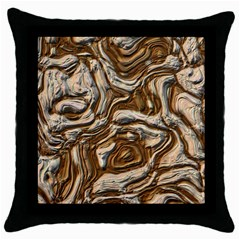 Fractal Background Mud Flow Throw Pillow Case (black) by Simbadda