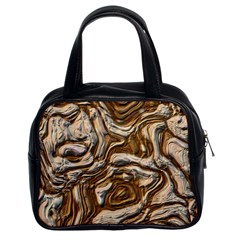Fractal Background Mud Flow Classic Handbags (2 Sides) by Simbadda