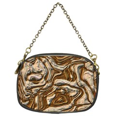 Fractal Background Mud Flow Chain Purses (two Sides)