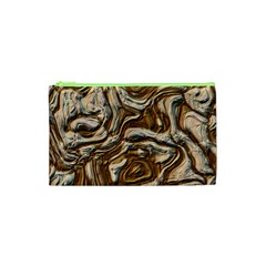 Fractal Background Mud Flow Cosmetic Bag (xs)