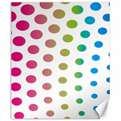 Polka Dot Pink Green Blue Canvas 20  X 24   by Mariart
