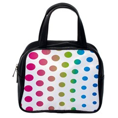 Polka Dot Pink Green Blue Classic Handbags (one Side) by Mariart