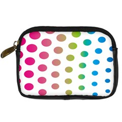 Polka Dot Pink Green Blue Digital Camera Cases by Mariart