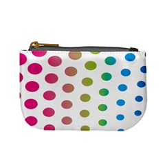 Polka Dot Pink Green Blue Mini Coin Purses by Mariart