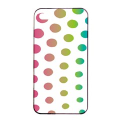 Polka Dot Pink Green Blue Apple Iphone 4/4s Seamless Case (black) by Mariart
