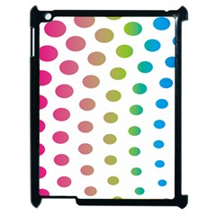 Polka Dot Pink Green Blue Apple Ipad 2 Case (black) by Mariart