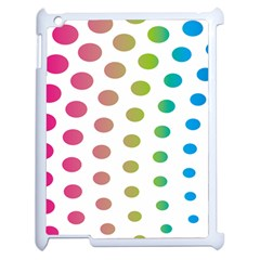Polka Dot Pink Green Blue Apple Ipad 2 Case (white) by Mariart