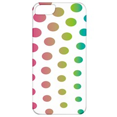 Polka Dot Pink Green Blue Apple Iphone 5 Classic Hardshell Case