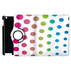 Polka Dot Pink Green Blue Apple Ipad 2 Flip 360 Case by Mariart
