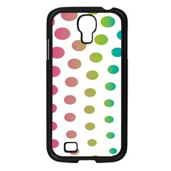 Polka Dot Pink Green Blue Samsung Galaxy S4 I9500/ I9505 Case (black)
