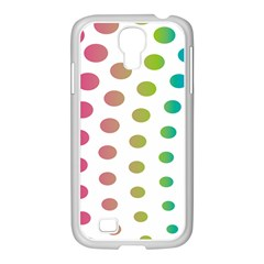 Polka Dot Pink Green Blue Samsung Galaxy S4 I9500/ I9505 Case (white) by Mariart