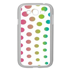 Polka Dot Pink Green Blue Samsung Galaxy Grand Duos I9082 Case (white)