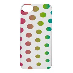 Polka Dot Pink Green Blue Apple Iphone 5s/ Se Hardshell Case by Mariart