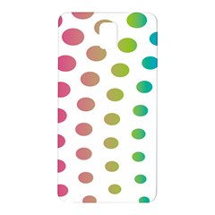 Polka Dot Pink Green Blue Samsung Galaxy Note 3 N9005 Hardshell Back Case