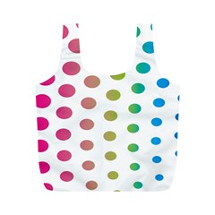 Polka Dot Pink Green Blue Full Print Recycle Bags (m)  by Mariart