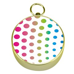 Polka Dot Pink Green Blue Gold Compasses by Mariart