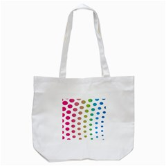 Polka Dot Pink Green Blue Tote Bag (white) by Mariart