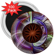 Background Image With Hidden Fractal Flower 3  Magnets (100 Pack) by Simbadda