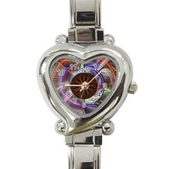 Background Image With Hidden Fractal Flower Heart Italian Charm Watch by Simbadda