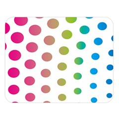 Polka Dot Pink Green Blue Double Sided Flano Blanket (large)  by Mariart