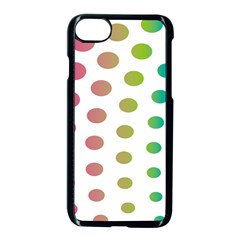 Polka Dot Pink Green Blue Apple Iphone 7 Seamless Case (black) by Mariart