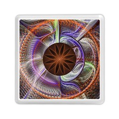 Background Image With Hidden Fractal Flower Memory Card Reader (square)  by Simbadda