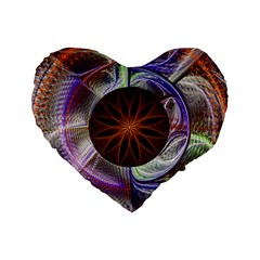 Background Image With Hidden Fractal Flower Standard 16  Premium Flano Heart Shape Cushions by Simbadda