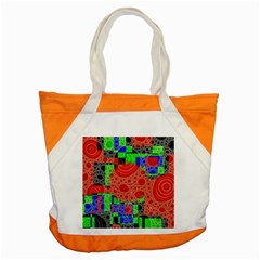 Background With Fractal Digital Cubist Drawing Accent Tote Bag by Simbadda