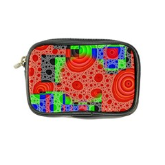 Background With Fractal Digital Cubist Drawing Coin Purse by Simbadda