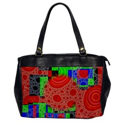 Background With Fractal Digital Cubist Drawing Office Handbags
