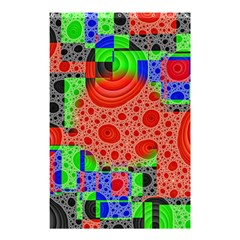Background With Fractal Digital Cubist Drawing Shower Curtain 48  X 72  (small)  by Simbadda