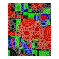 Background With Fractal Digital Cubist Drawing Shower Curtain 60  X 72  (medium)  by Simbadda