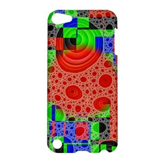 Background With Fractal Digital Cubist Drawing Apple Ipod Touch 5 Hardshell Case by Simbadda