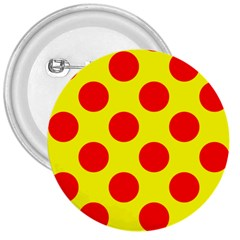 Polka Dot Red Yellow 3  Buttons