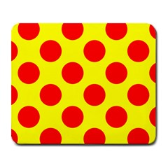 Polka Dot Red Yellow Large Mousepads