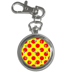 Polka Dot Red Yellow Key Chain Watches