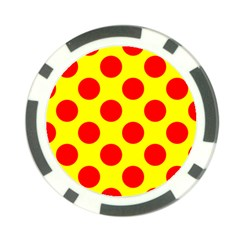 Polka Dot Red Yellow Poker Chip Card Guard by Mariart