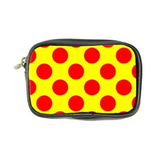 Polka Dot Red Yellow Coin Purse