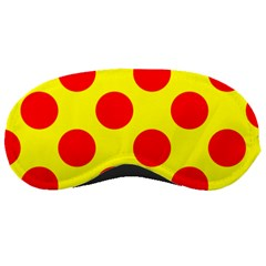 Polka Dot Red Yellow Sleeping Masks by Mariart