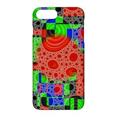 Background With Fractal Digital Cubist Drawing Apple Iphone 7 Plus Hardshell Case by Simbadda