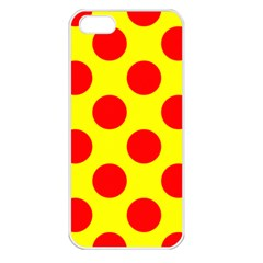 Polka Dot Red Yellow Apple Iphone 5 Seamless Case (white) by Mariart