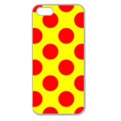 Polka Dot Red Yellow Apple Seamless Iphone 5 Case (clear) by Mariart