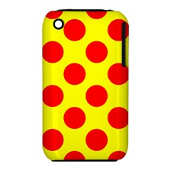 Polka Dot Red Yellow Iphone 3s/3gs by Mariart