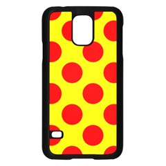 Polka Dot Red Yellow Samsung Galaxy S5 Case (black) by Mariart
