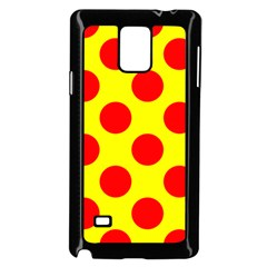 Polka Dot Red Yellow Samsung Galaxy Note 4 Case (black) by Mariart
