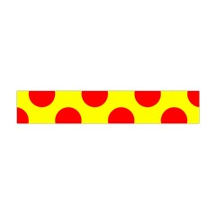 Polka Dot Red Yellow Flano Scarf (mini) by Mariart
