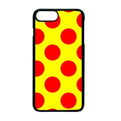 Polka Dot Red Yellow Apple Iphone 7 Plus Seamless Case (black) by Mariart