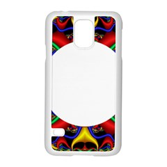 Symmetric Fractal Snake Frame Samsung Galaxy S5 Case (white) by Simbadda