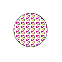 Polka Dot Purple Green Yellow Hat Clip Ball Marker (4 Pack) by Mariart