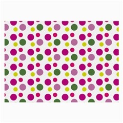 Polka Dot Purple Green Yellow Large Glasses Cloth (2 Side) by Mariart
